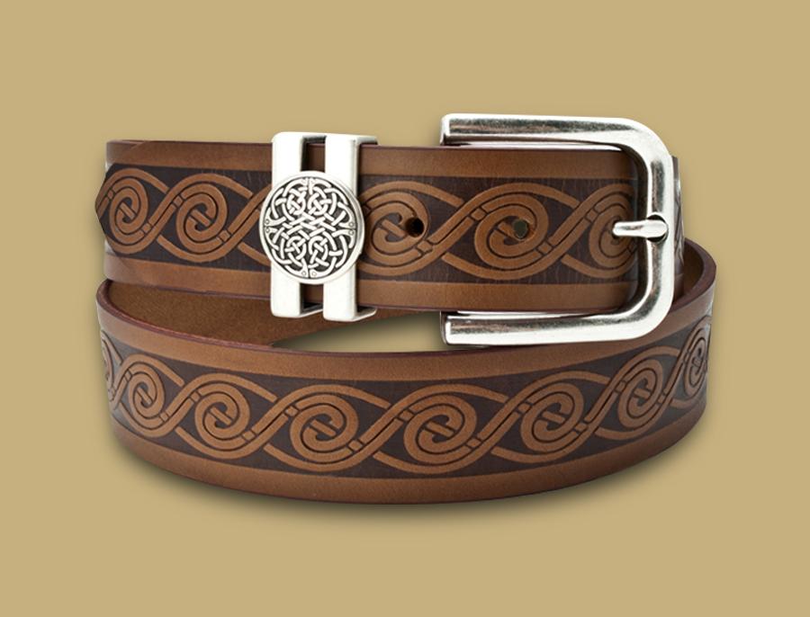 Celtic Wave Leather Belt