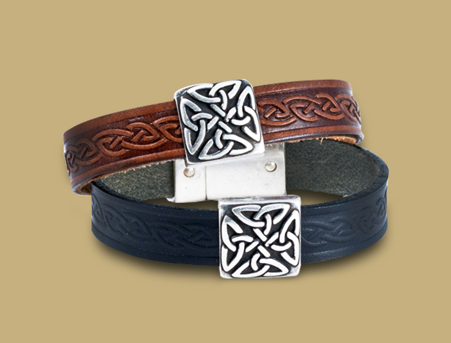 Braden-Unisex-Celtic-Leather-Bracelet-from-Ireland