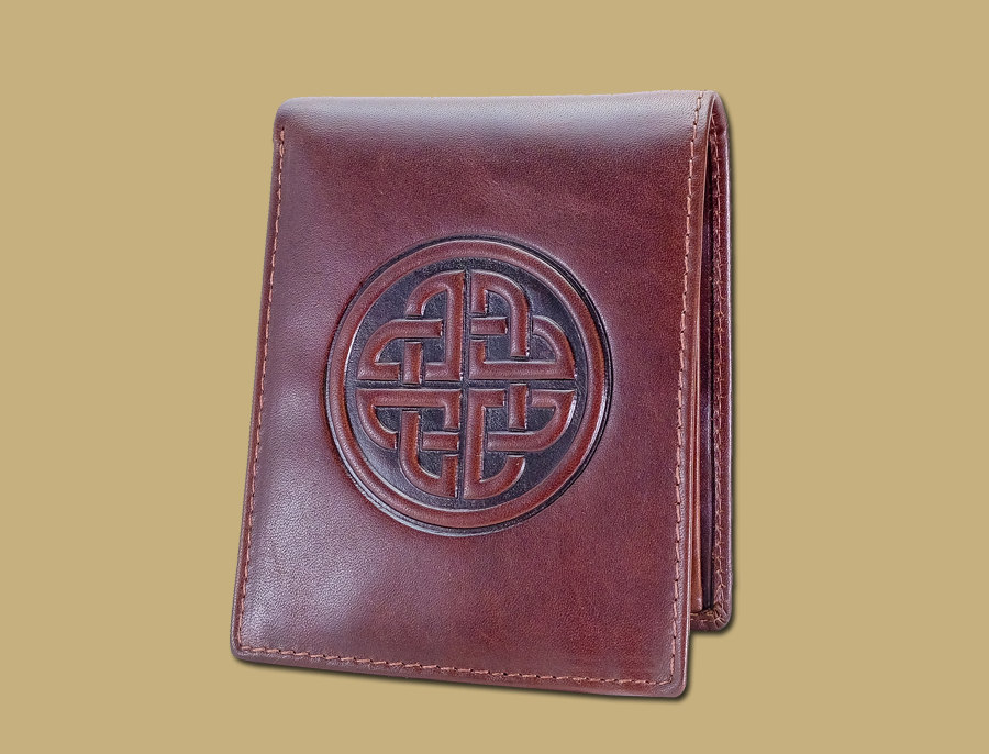 Celtic Knot Real Leather Tan Mens Wallet