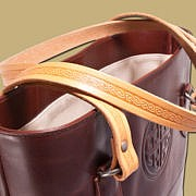 Tote Dark Brown Shopper Leather Bag from Ireland