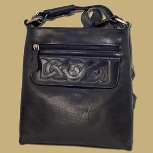 Celtic Embossed Ladies Leather Bag