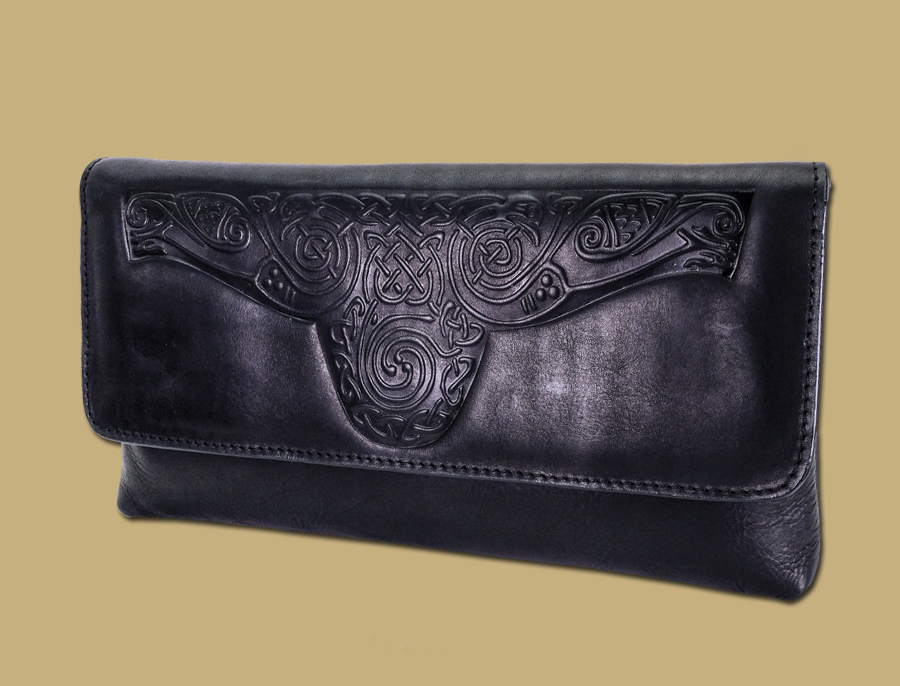 celtic clutch bag black lee river ireland