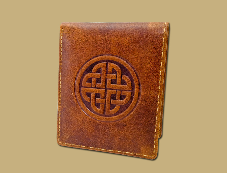 Celtic Knot Real Leather Mens Wallet