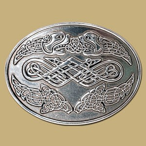 celtic heads snap on belt buckle