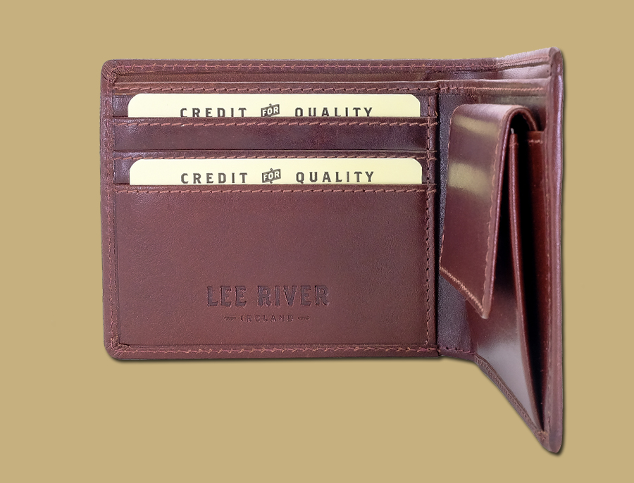 Classic Mens Coin Pocket Wallet Brown