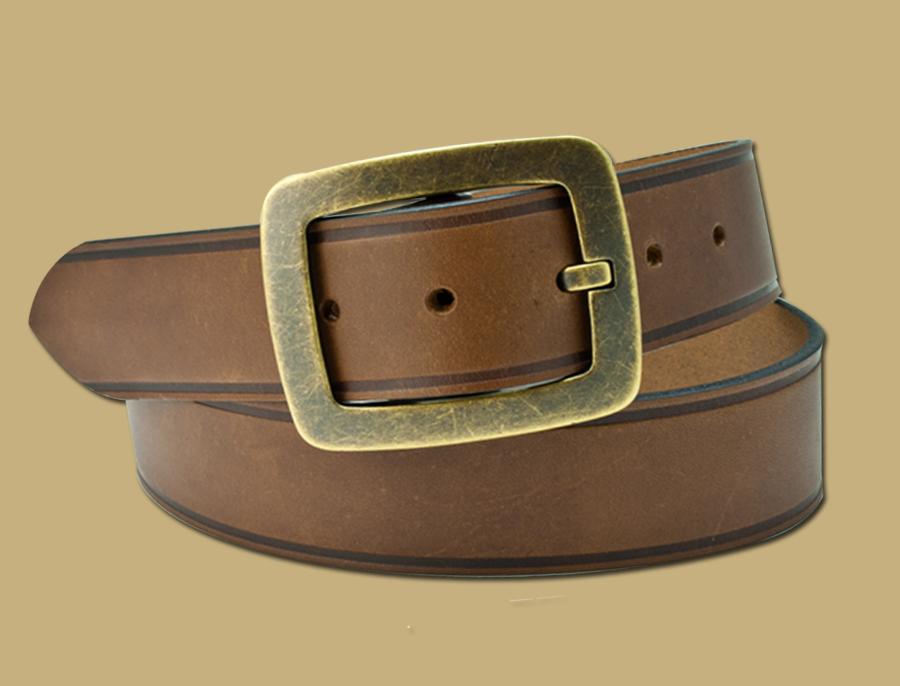 Grafter-Work-Belt-Snap-On-Old-Brass
