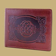 COin Wallet with Celtic Embossing from Ireland