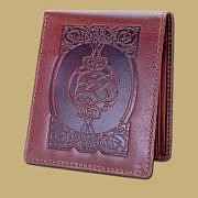 Celtic Coin Wallet in Dark Brown