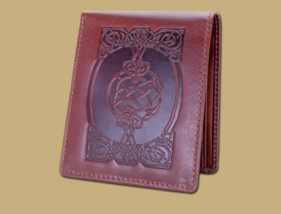 Celtic Coin Wallet in Dark Brown