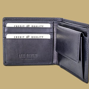Men's Wallet with Coin pocket in Black