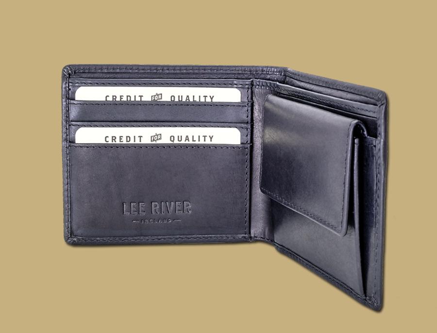 Men's Wallet with Coin pocket in Black