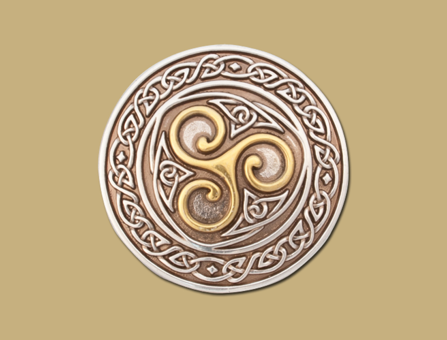 gold and silver Celtic Snap On Triskle Buckle