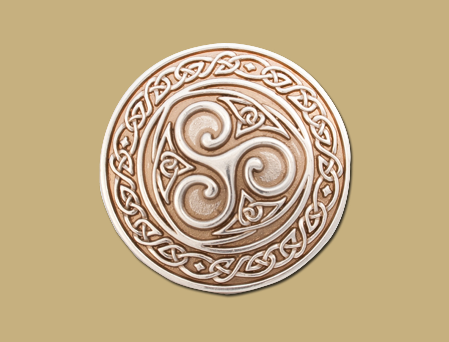 Snap on Celtic buckle silver triskle