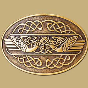 celtic swans belt buckle for snap on