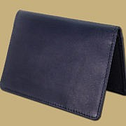 classic passport cover in black leather