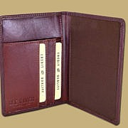 classic passport cover in brown leather