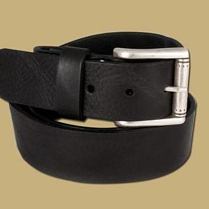 dakar black leather mens jeans belt