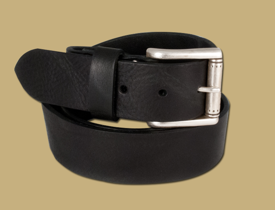 dakar black leather mens jeans belt