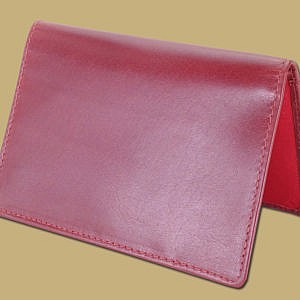 classic passport cover in red leather