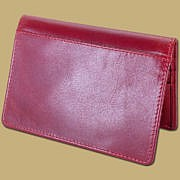 Boarding Pass Passport Cover Red Leather