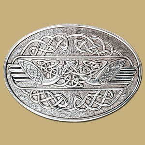 celtic swans snap on belt buckle