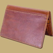 Boarding Pass Passport Cover Tan Leather
