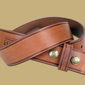 25 Year Handmade Snap On Leather Belt