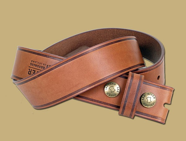 25 Year Handmade Snap On Leather Belt
