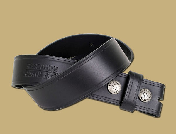 25 Year Handmade Snap On Leather Belt Black