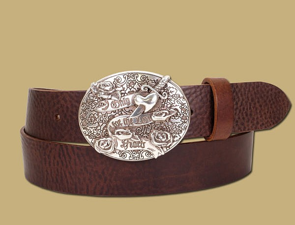 only for the lost hearts tattoo silver belt and buckle