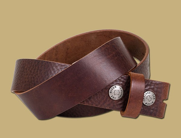 Tuscan Tanned Snap On Leather Belt Brown
