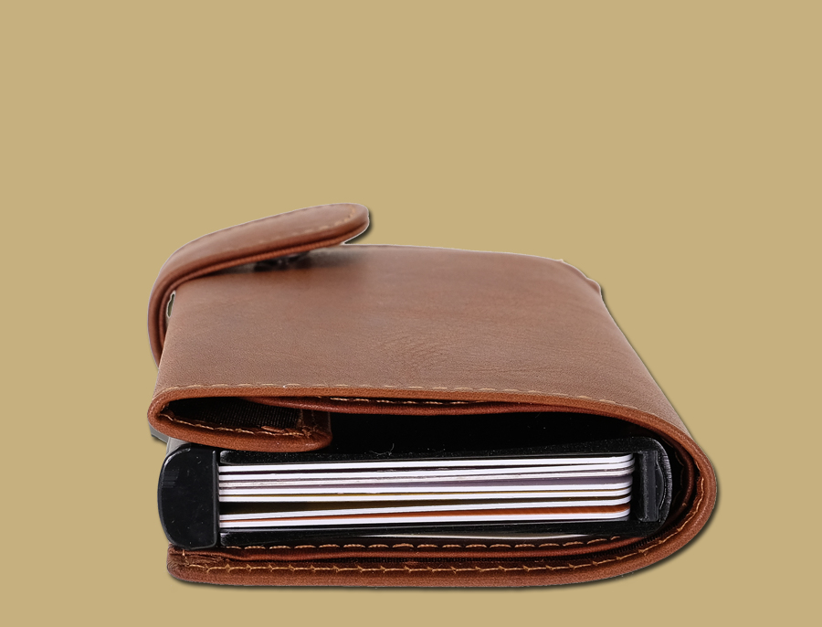 7 cards RFID Secure Pop-Up Card Wallet