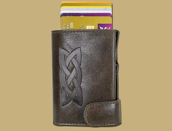 pop up celtic RFID celtic wallet lee river leather ireland