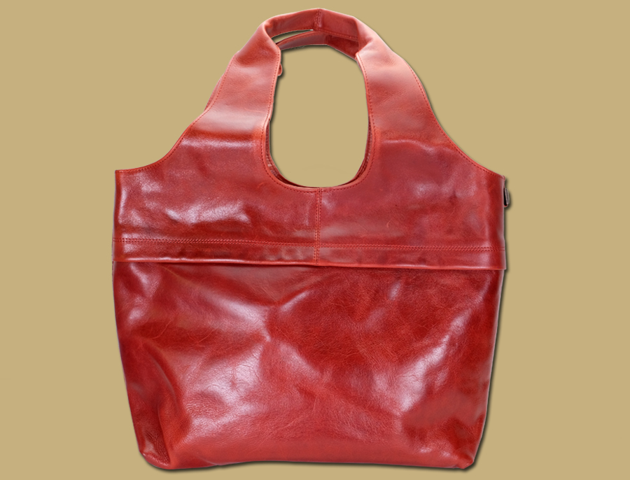Lee River Leather Large Red Tote Shopper Bag celtic
