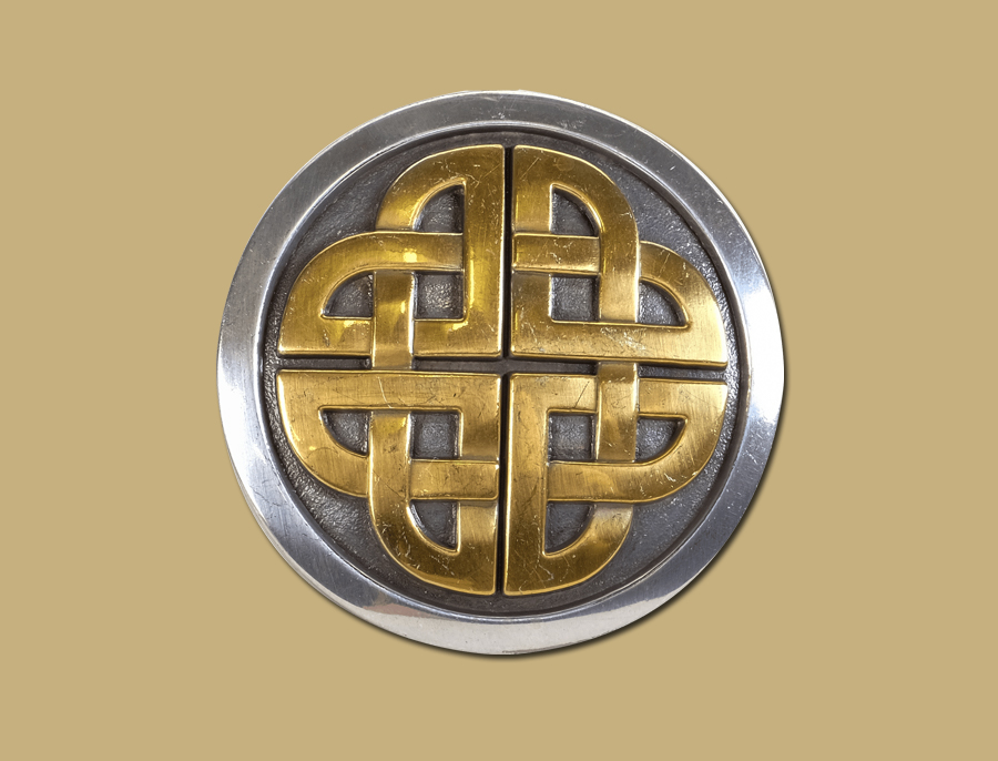 2 Tone Snap On Celtic Belt Buckle by Lee River Ireland