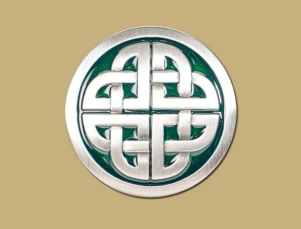 Green PewterSnap On Celtic Belt Buckle by Lee River Ireland