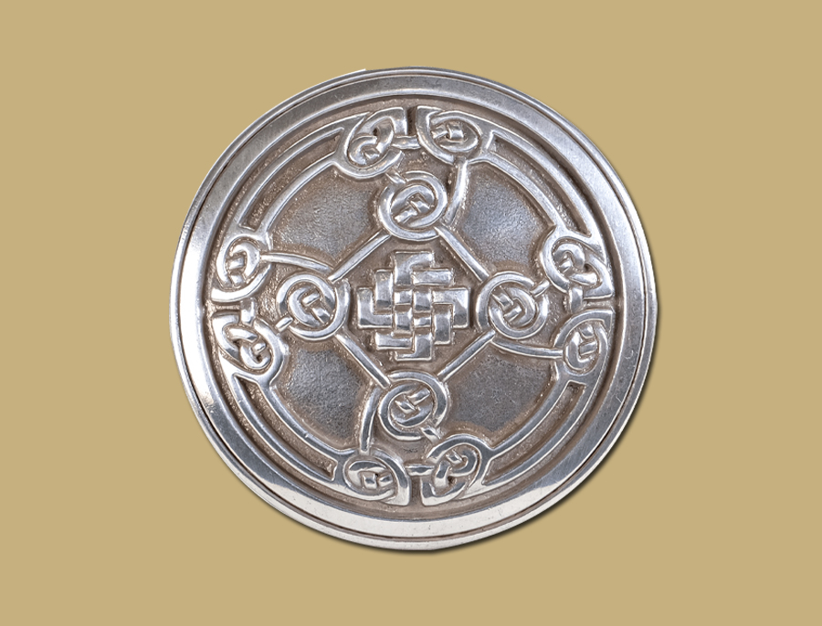 Celtic Shield Buckle fro Snap On Belts