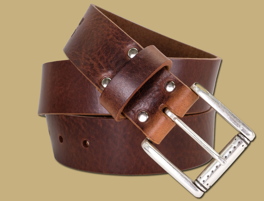 dakar brown tuscan leather belt made in ireland by lee river leather