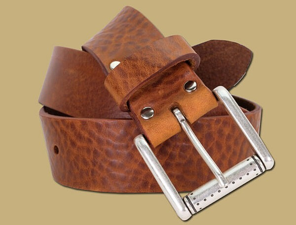 dakar tan tuscan leather belt made in ireland by lee river leather