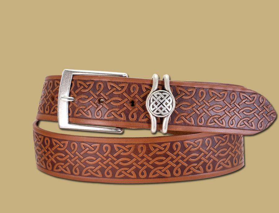 Oisin Jeans Celtic Belt in Brown